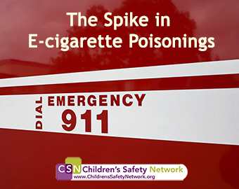 "Poisonings from ""e-juice,"" a liquid nicotine solution found in e-cigarettes, have spiked. Read more in the blog post by CSN."