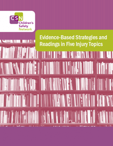 "Image of cover, image of books with title ""Evidence-Based Strategies and Readings in Five Injury Topics"" and CSN logo"