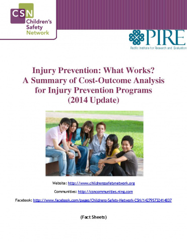 Injury Prevention: What Works? A Summary of Cost-outcome Analysis for Injury Prevention Programs (2014)