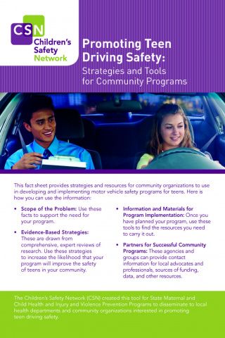 Promoting Teen Driving Safety: Strategies and Tools for Community Programs