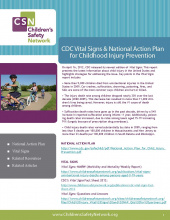 CDC Vital Signs & National Action Plan for Childhood Injury Prevention Resource Guide