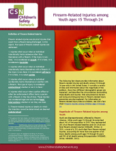 Firearm-Related Injuries among Youth Ages 15 Through 24