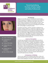 Preventing Bullying: The Role of Public Health and Safety Professionals