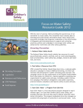 Water Safety: CSN Resource Guide 2012